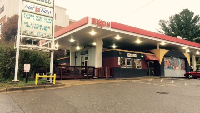 The Exxon station at 51 Merrimon Avenue, which also contains the 51 Grill and a convenience store, will be sold to a hotel chain, according to the store owner.