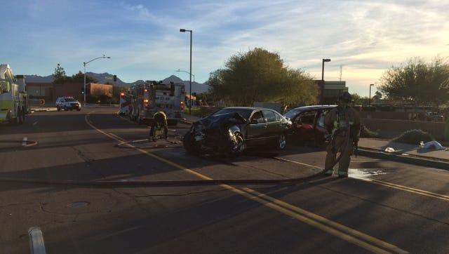 Crash near Scottsdale Municipal Airport