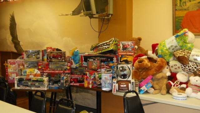 Shown are pictures of some of the toys collected by the ABATE riders during their recent Toy Run for Christmas Wish 2015.