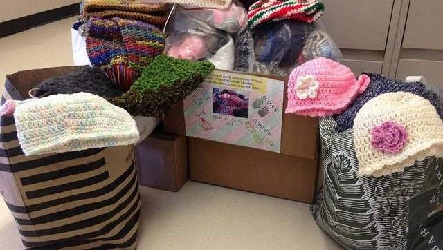 Photo is of the various items collected for the drive