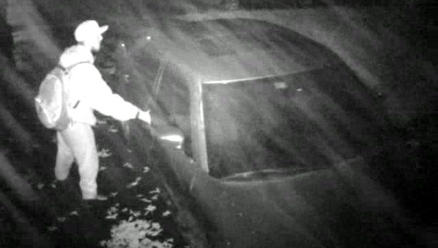 New Castle County police are looking for this man in connection to multiple vehicle break-ins this week.