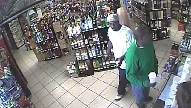 Surveillance footage caught  two men stealing alcohol from a Bossier City liquor store on two separate occasions.