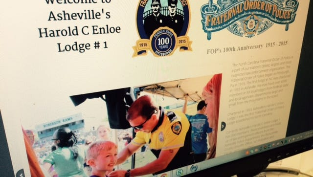 The Asheville Fraternal Order of Police does not reference the Asheville Police Department when raising funds.