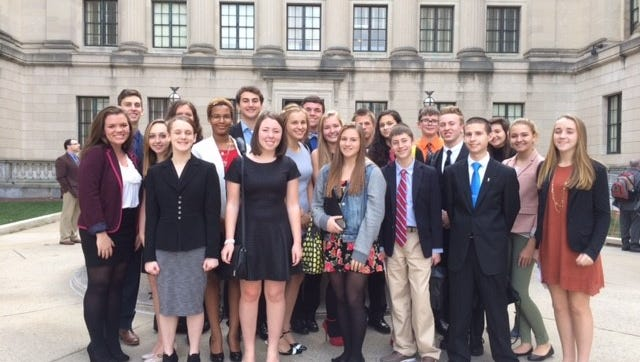 Students in the Millville Public Schools Gifted & Talented Program participated in the New Jersey Model Congress in Trenton.