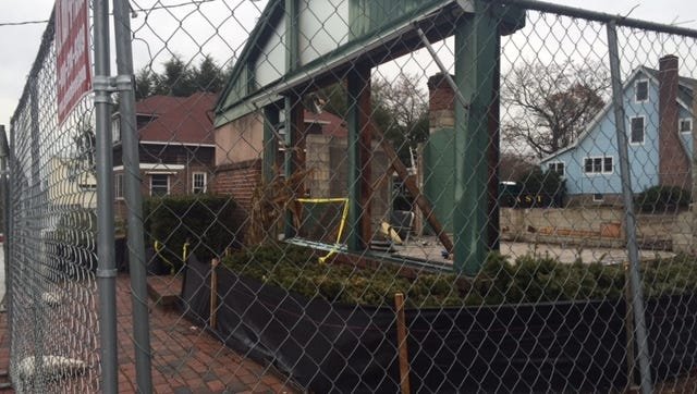 The last standing portion of the former Reber Florist on the corner of Lexington and Smith avenues in Mount Kisco. The building will be reconstructed as the home of Suburban Floors.