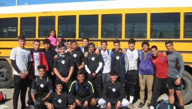 The Sunnyside boys soccer team.