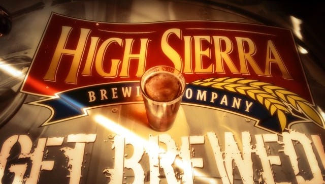 High Sierra Brewing Co. table in Carson City