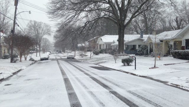 Snow continues to fall across West Tennessee