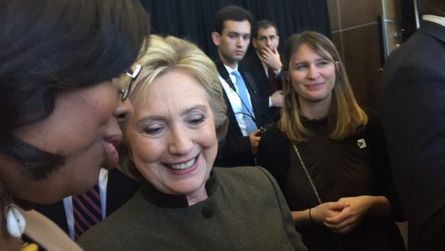 Hillary Clinton at 1133 Westchester Avenue for a fundraiser on 1/28/2016