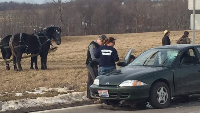 An elderly woman Friday apparently had a medical condition and side swiped something on Ohio 545, according to the Mansfield post of the Highway Patrol. She was transported by squad to Samaritan Hospital.
