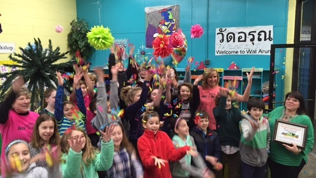 "The Delmarva Zoological Society Prize Patrol  visited the Salisbury School on Friday, Feb. 19, 2016. Stephanie Krisulevicz's 5th grade class raised more money than any class in four counties for ""Just Zoo It."""