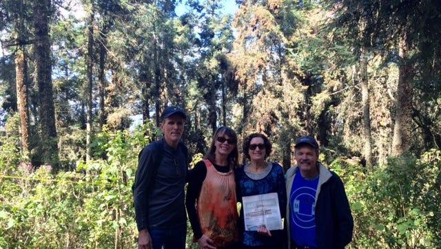 Nancy and Randy VanOverbeke and Melinda and David Wermager near Angangueo.
