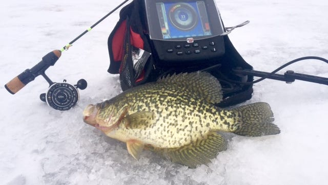 Crappies were big and plentiful in Nate Berg's neck of the woods.