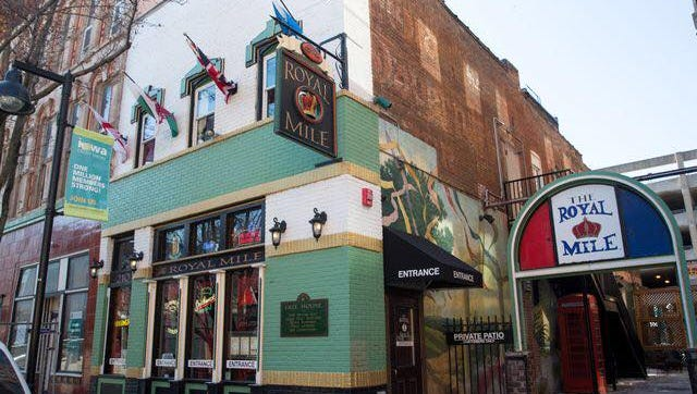 The Royal Mile is a British pub in downtown Des Moines that features imported beers.