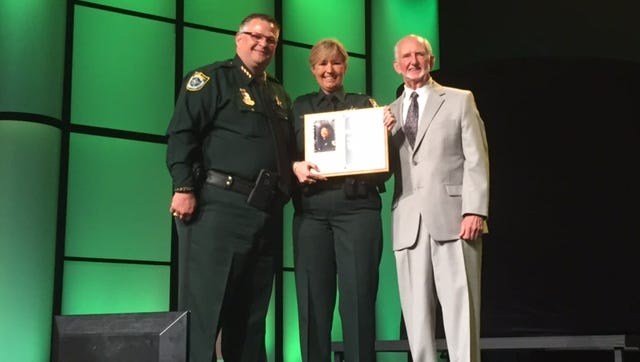 Brevard County Sheriff's Office Agent Cyndi Young received the Lucy Ross Award on Friday evening.