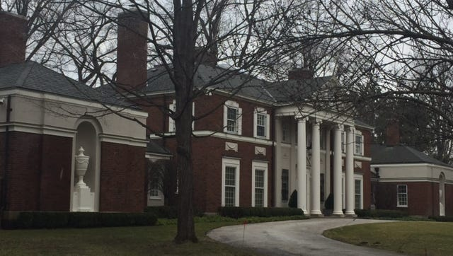 The home of Daniel Clancy is pictured in Grosse Pointe Farms, Mich.