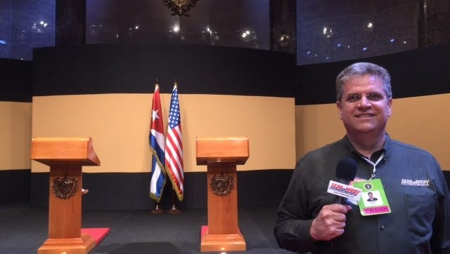 Mike Bates is in Cuba covering President Obama's trip.