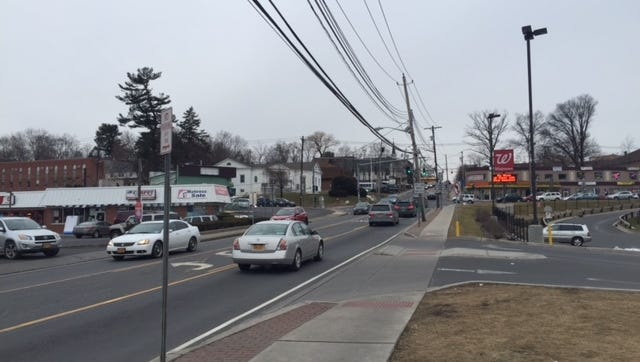 Route 59 in Spring Valley, where the state Department of Transportation is working to make pedestrian safety improvements.
