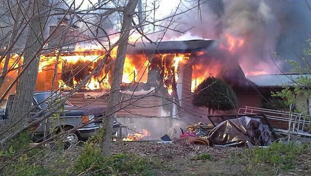 A fire destroyed a home in Carroll County, Maryland Sunday morning, according to a news release from the state fire marshal. Two pets died in the fire.