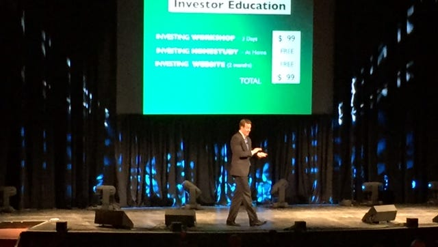 Alan Andrus presenting at the Wichita, Kan., Get Motivated! Business Seminar.