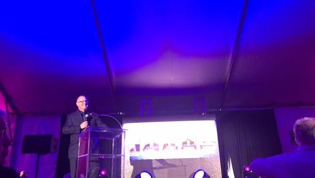 Desert Hot Springs Mayor Scott Matas spoke at the Desert Hot Springs State of the City event Thursday.