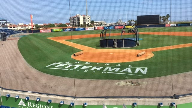 In honor and memory of U.S. Navy Vice Admiral Jack Fetterman, the field at Blue Wahoos Stadium is now Admiral Fetterman Field. He was one of the driving forces in getting the Community Maritime Park project completed.