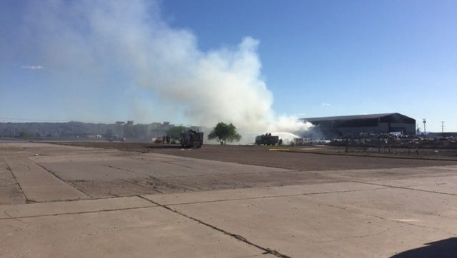 The International Paper Recycling Plant caught fire.
