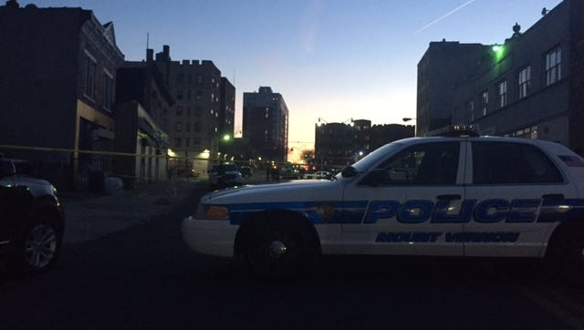 Mount Vernon police taped off several blocks after a person was shot on East Third Street on Sunday.
