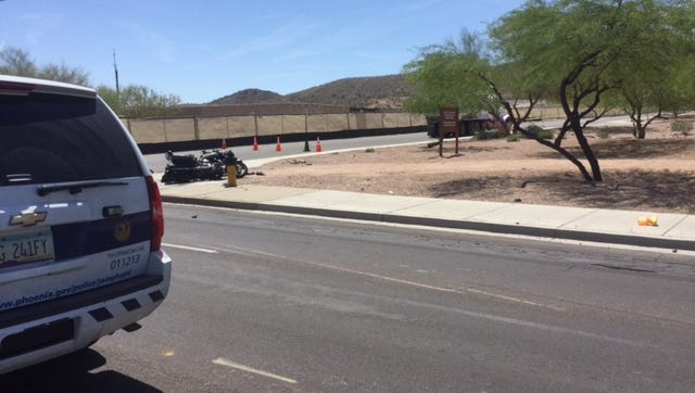 A vehicle crash near Baseline and 40th Street killed a motorcyclist Saturday morning.