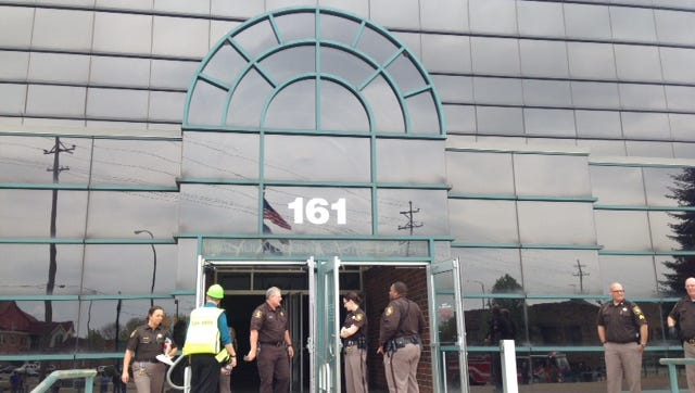 The Calhoun County Justice Center was evacuated Friday afternoon.