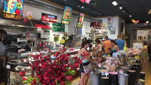 Door County Candy in Sturgeon Bay is an old-fashioned candy store and ice cream parlor.