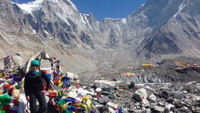 Ashlie, at the Mount Everest base camp