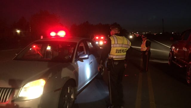 New Mexico State Police in Las Cruces conducted a roadblock on Stern Drive on Friday night.