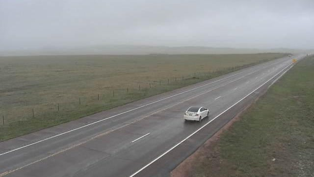 A low-lying bank of clouds is blanketing Fort Collins and Northern Colorado, as shown in this CDOT traffic camera north of Fort Collins.