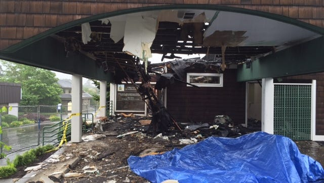 An early morning fire and fire-fighting efforts completely damaged the interior of this surgery center at 1565 Liberty Street SE on May 14, 2016.