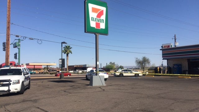 A man was shot in the leg near a west Phoenix 7-Eleven parking lot Tuesday afternoon, police said.