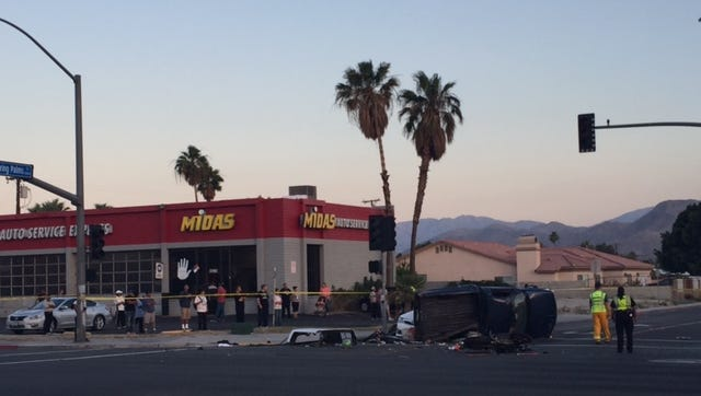 Southbound Whispering Palms and eastbound Ramon were closed Friday night after a multi-vehicle collision.