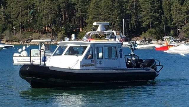 A submitted photo of Marine 7, which was used to rescue three people from Lake Tahoe following a Jet Ski crash.