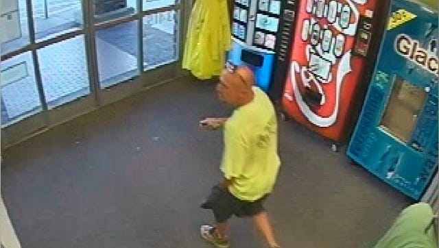 Murfreesboro police are seeking the identity of the bald man in the light green T-shirt. He is suspected of taking unauthorized photos under a local woman's skirt at the Publix on Memorial Boulevard. Anyone with information should call MPD at 615-893-2717.