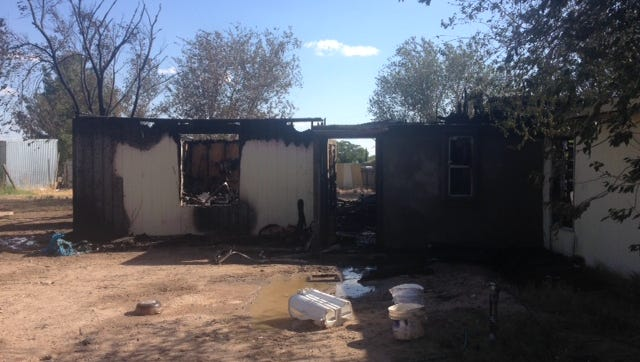 A San Elizario home burned down Sunday afternoon. Fire crews said it was a total loss.
