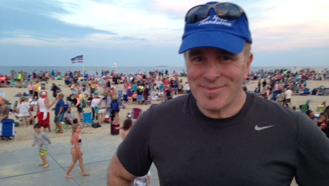 It's showtime for John O'Neill, manager of the Sandy Hook Foundation Beach Concert Series, on Wednesday, June 15.