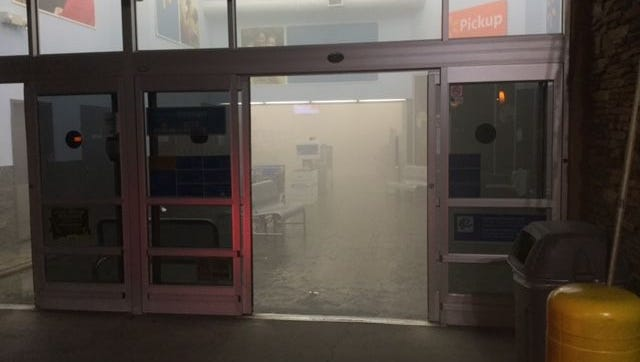 Firefighters said people set off fireworks inside a Walmart near 55th Avenue and Indian School on June 15, 2016, prompting the store's evacuation.