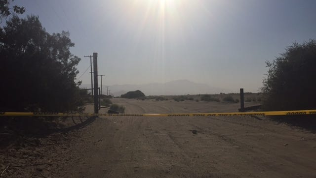 Deputies from the Riverside County Sheriff's Department are investigating the area of Dillon Road and Highway 86, where a man was found with multiple gunshot wounds Wednesday afternoon.