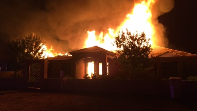 A first-alarm fire was reported at 3624 W. Elliot Road in Laveen.