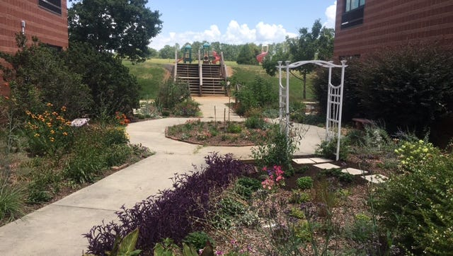 The picture here shows the butterfly garden at Fork Shoals Elementary School.