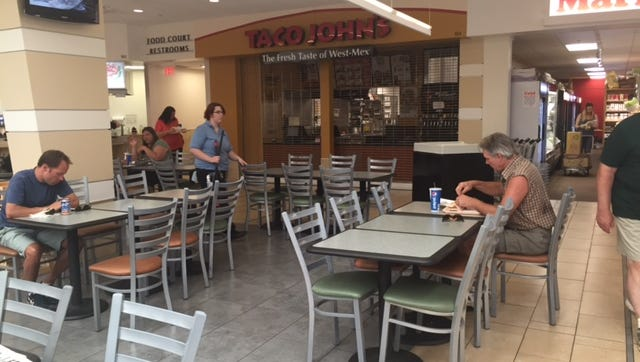 Taco John's in Wausau Center mall closed last week following an eviction notice.