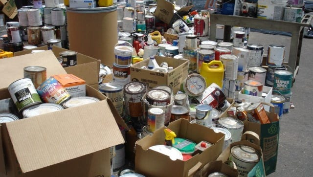 The city of Fort Collins will sponsor a free household hazardous waste drop-off event 9 a.m. to 3 p.m. May 19 at the city Streets Facility, 625 Ninth St.