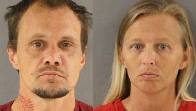 John Wesley Harden, left, Tamara Marie Cagle (Knox County Detention Center)