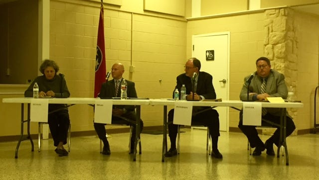 Candidates for the Thompson's Station Board of Aldermen participated in a forum Wednesday night.