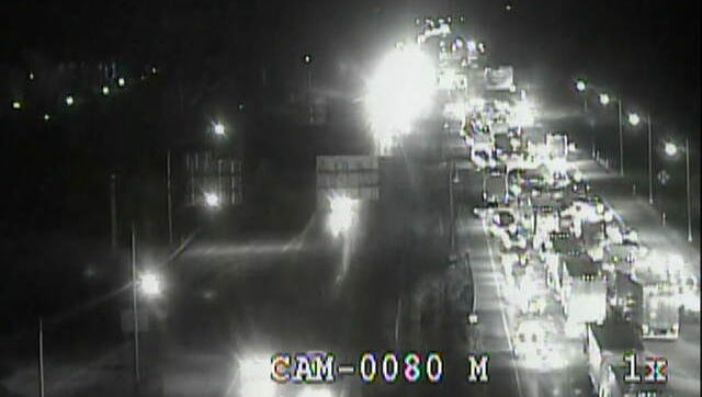 Multiple crashes affected the Interstate 265 near Interstate 64 Tuesday morning.